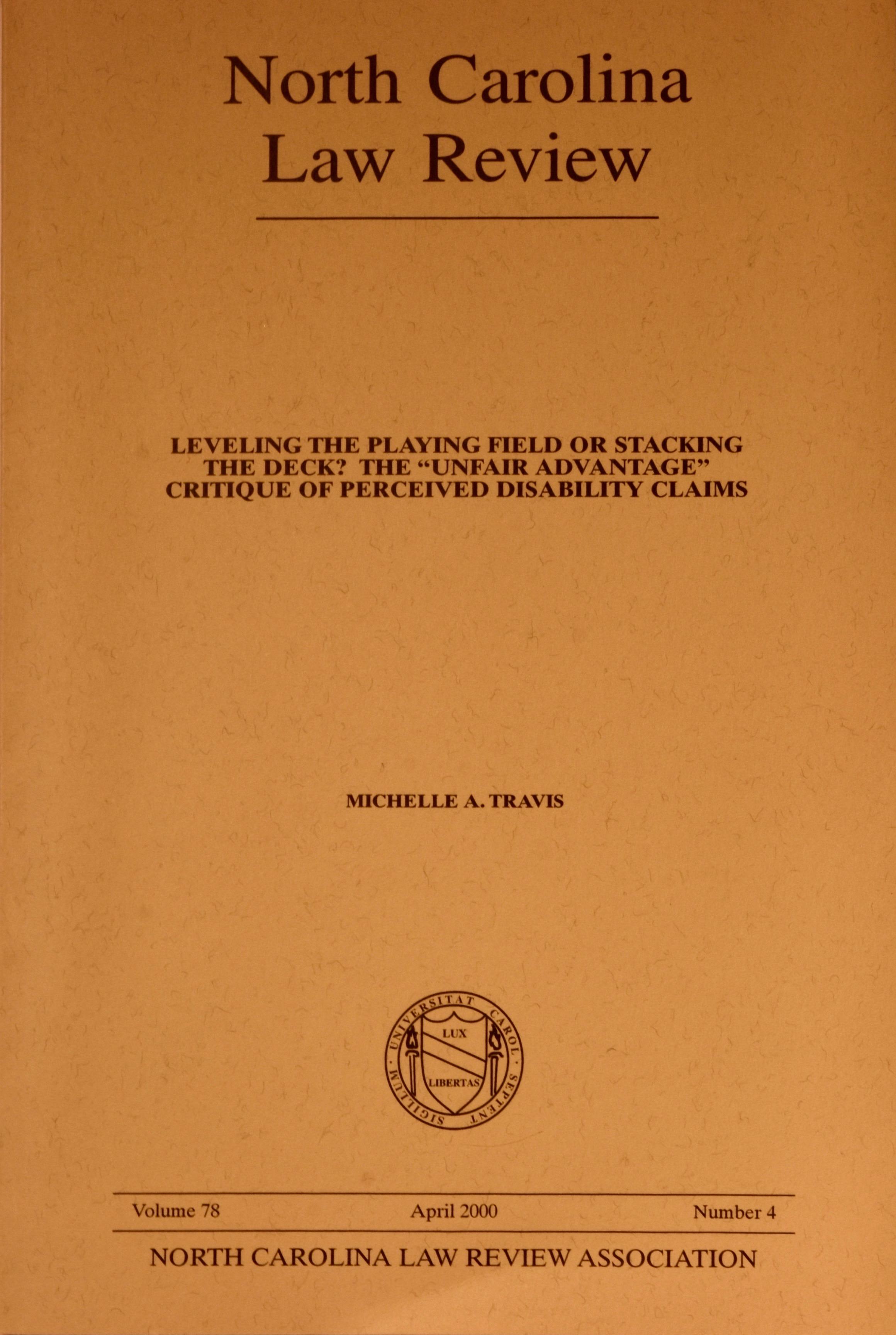 North Carolina Law Review